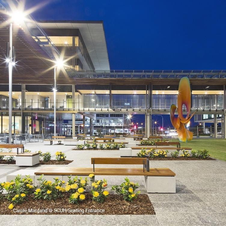 Carole Margand copyright - SCUH Seating Entrance - Sunshine Coast University Hospital
