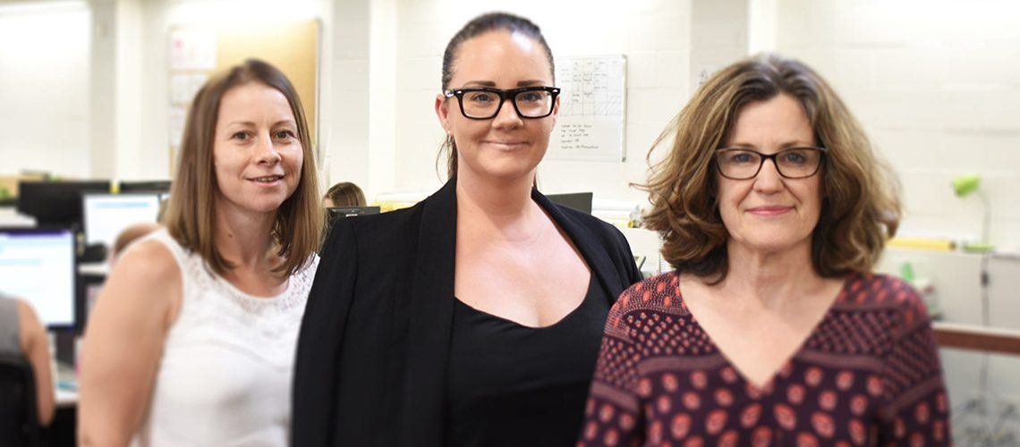 Place Design Group CFO Emma Vidot, GM Beth Toon and Planning Director Ruth Frettingham
