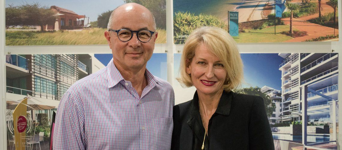 Place Design Group Chairman Ian Klug AM and Non-Executive Director Catherine Gallagher